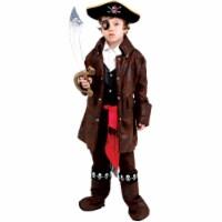 7 Toddler 4 Caribbean Boy Pirate Costume