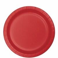 Group  9 in. Dinner Bulk Plate, Red - 75 per Case - Case of 12 - 12