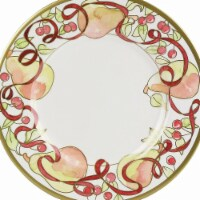 7.5 in. Berries, Pears Holiday Dessert & Salad Plate, Pack of 24 - 24