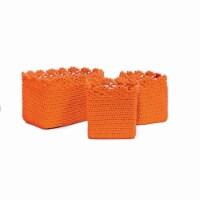 Mode Crochet Basket with Crochet Trim - Set of 3