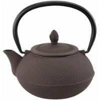 30 oz Kyusu Cast Iron Tea Pot - Brown