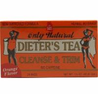 Only Natural Dieter's Orange Flavor Caffeine Free Herbal Tea Bags - 24 ct