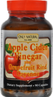 Only Natural Apple Cider Vinger Plus Grapefruit Rind and Cayenne Dietary Supplement Capsules
