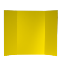 36 x 48 1 Ply Yellow Project Board Bulk Pack of 24 - 36 x 48