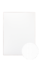 20 x 28 Fadeline Grid Sheet - 2-sided White Pack of 10 - 20 x 28
