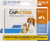 CapAction Small Dog Flea Treatment 11.4mg Tablets 6 Count