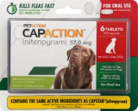 CapAction Large Dog Flea Treatment 57mg Tablets 6 Count
