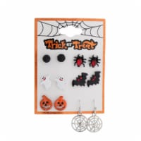Pumpkin & Spider Earrings - 6 Pack