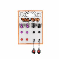 Stud & Spider Earrings - 6 Pack