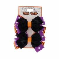 Glitter Ribbon Hair Clip - 2 Pack