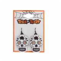 Sugar Skull Earrings - White