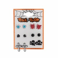 Halloween Motif Earrings - 6 Pack