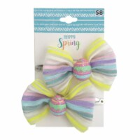 Easter Egg Hair Bows - Pink/Purple
