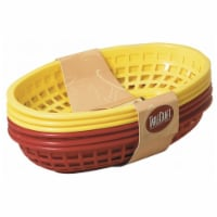 Tablecraft H1074RY-6 6 Piece 9 in. Assorted Red & Yellow Sandwich & Fry Basket Set