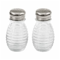 Tablecraft Beehive Salt and Pepper Shakers - Clear/Silver