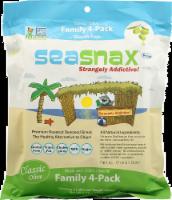 Seasnax Premium Roasted Seaweed Family 4-Pack