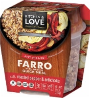 Cucina & Amore Kitchen & Love Roasted Pepper & Artichoke Farro & Quinoa Quick Meal
