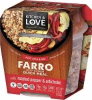 Cucina & Amore Kitchen & Love Roasted Pepper & Artichoke Farro & Quinoa Quick Meal