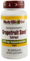 NutriBiotic Grapefruit Seed Extract Vegan Dietary Supplement Capsules 250mg - 60 ct