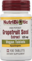 NutriBiotic Grapefruit Seed Extract Dietary Supplement Vegan Tablets 125mg - 100 ct