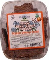 Mauk Family Farms  Raw Flax Seed Crisps   Organic Onion and Cumin