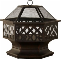 Fire Island Lattice Design Wood Burning Outdoor Fire Pit - 28 in