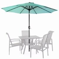 9Ft Outdoor Patio Umbrella Market Table Yard Garden w/ Crank Tilt, Aqua
