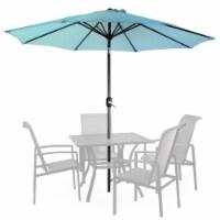 9ft Patio Garden Sunshade Canopy Outdoor Market Beach Umbrella Tilt Crank