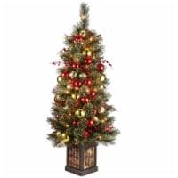 4 ft. Dakota Pine Entrance Tree with Clear Lights - 1
