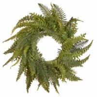 National Tree Company 35in Decorative Artificial Dia Fern Wreath, Unlit, Green - 1 Piece