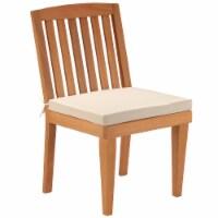 Eucalyptus Grandis Wood Dining Chair, Beige