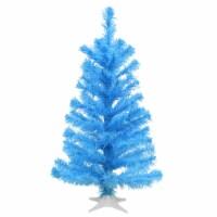 2 ft. Light Blue Color Tree Decoration - 1