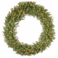 """60"""" Norwood Fir Wreath with Warm White LED Lights - 1"""