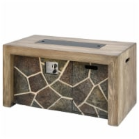 Natural Wood and Stone Design MGO Propane Fire Pit Table