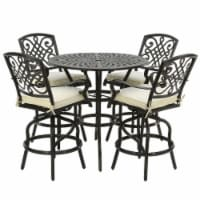 Windsor Collection 5-Piece All-Weather High Dining Bar Set - 1