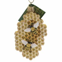 Old World Christmas Honeycomb Glass Beehive Honey Bees 12586 - 1