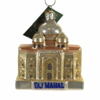 Old World Christmas Taj Mahal Glass Ivory White Mausoleum 20123 - 1