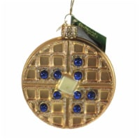 Old World Christmas Waffle Glass Blueberry Butter Syrup 32444 - 1