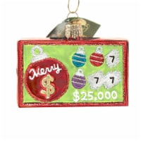 Old World Christmas Merry Ticket Glass Lottery Scratch Cards 36278 - 1