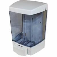 ClearVu Soap Dispenser - Manual - 1.44 quart Capacity - White - 1Each