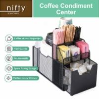 Nifty Coffee Condiment Organizer – Black Countertop Storage Organizer - Each