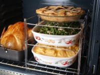Nifty 3-Tier Oven Insert Rack and Roasting Pan – Non-Stick Chrome or Charcoal Material - Each