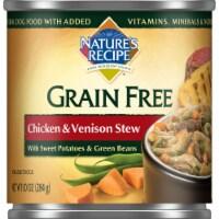 Nature's Recipe Grain Free Chicken & Venison Stew Wet Dog Food