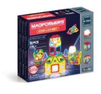 MAGFORMERS® Neon LED Building Set 31 Piece