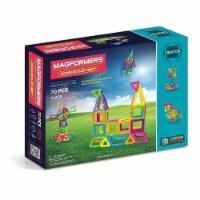 Magformers Neon Color Set 70 PCS Creator Line 3D Educational Tiles Magnetic Building STEM Toy - 1 unit
