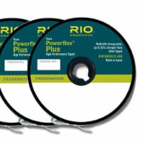 Rio Products 6-22198 Powerflex Plus Fly Fishing Tippet, 4X-6X, Clear (3 Pack)