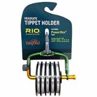 Rio Fly Fishing Spring Loaded Headgate 7 Tippet Spool Dispenser w/ Line Cutter