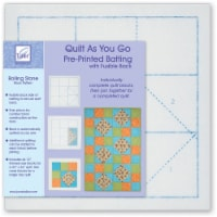 June Tailor Quilt As You Go Printed Quilt Blocks On Batting-Rolling Stone - 1