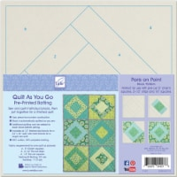 June Tailor Quilt As You Go Printed Quilt Blocks On Batting-Paris On Point - 1