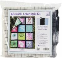 June Tailor Reversible T-Shirt Quilt Kit-Black - 1